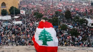 متظاهرون في لبنان