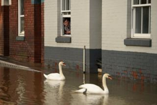 in_pictures Flooding in Shrewsbury