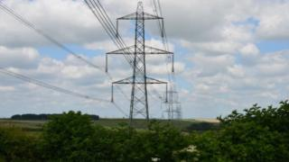 Pylons in Dorset