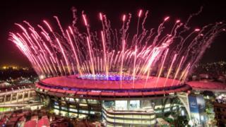 Cerimônia de abertura no Maracanã