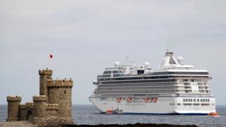 Cruise Ship visiting the Isle of Man