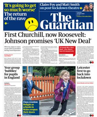 Guardian front page 20.06.20
