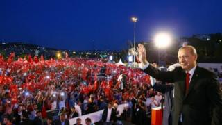 President Erdogan addresses the crowd in Istanbul