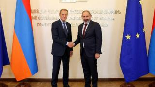 Donald Tusk, Nikol Paşinyan