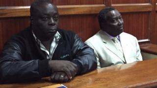 Pius Ochieng (Ibumoso) na Francis Paul (Iburyo) abari gukorwaho iperereza ku byaha bashijwa