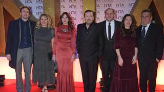 Ricky Gervais and the cast of After Life