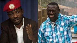 Uhereye ibumoso ujya iburyo: Depite Bobi Wine na Dr Kizza Besigye