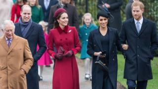 Prince Charles, Prince William, Duchess Catherine, Duchess Meghan and Prince Harry
