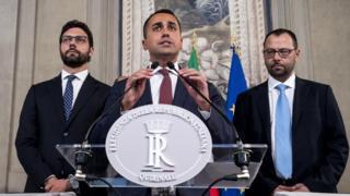 Italian Deputy Prime Minister, Labor and Five Star Movement Leader (M5S) Luigi Di Mayo Luigi Di Mayo
