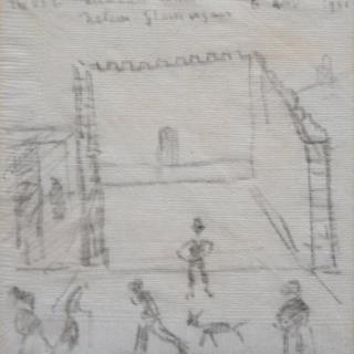 LS Lowry napkin sketch