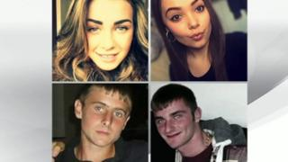 Four crash victims