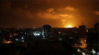 गज़ा में इज़रायल का हवाई हमला