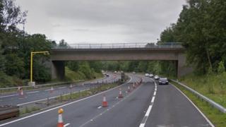 M65 footbridge