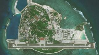 Hình ảnh vệ tinh chụp Đảo Phú Lâm hôm 12/5/2018