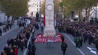 People's Parade passes the Cenotaph