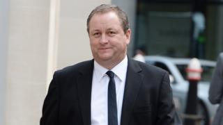 Mike Ashley arriving at the High Court