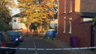The man was found lying in Southwood Road