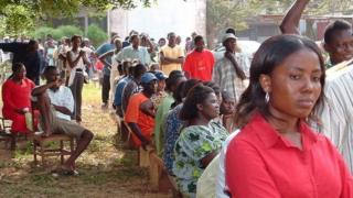 Mutane kan layi a wata mazaba a Ghana