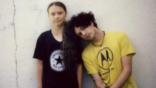Greta Thunberg and Matt Healy