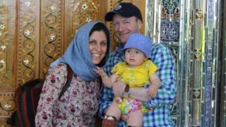 Iranian-British aid worker Nazanin Zaghari-Ratcliffe with her husband Richard Ratcliffe and her daughter Gabriella