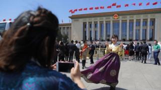"""北京举行了高规格的纪念""""五四运动""""一百周年活动"""