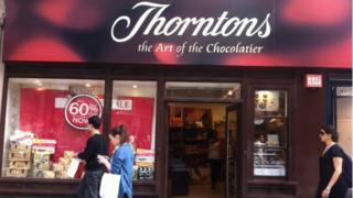 Thorntons shop on Oxford Street