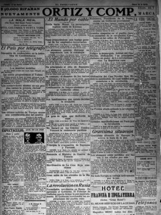 El Espectador - 17 марта 1917 год