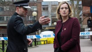 Wiltshire Police Chief Constable Kier Pritchard and Home Secretary Amber Rudd