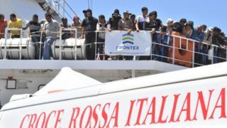 İtalya'daki kaçak göçmenler