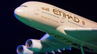 Etihad Airways aircraft generic - not the same as the plane with the error