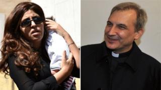 Francesca Chaouqui y monseñor Lucio Vallejo Balda