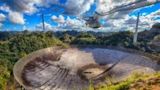 O radiotelescópio de Arecibo