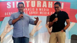 Menurut hasil hitung cepat, pasangan Anies-Sandi mendapat sekitar 58% suara pemilih di Jakarta.