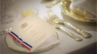 Place setting at a State Banquet