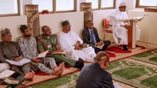 President Muhammadu Buhari wit some of im executives