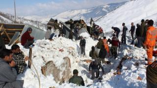 हिमस्खलन, बर्फ़बारी, कश्मीर