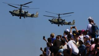Helicopters over Sevastopol, 28 July