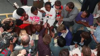 Serena became a professional tennis player when she was just 14 years old. Even at this young age, the two Williams sisters were getting a lot of attention from the press.