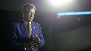 Nigel Farage the Brexit Party Conference tour in Newport on 21 September