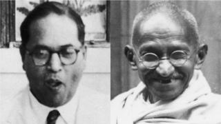 भीमराव आंबेडकर, महात्मा गांधी