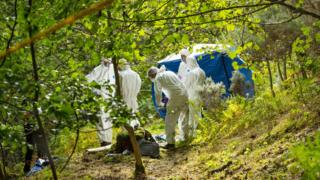 Police said the discovery was made on Sunday evening in a secluded area of Torvean Quarry