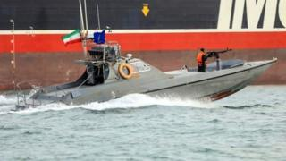 Iranian Revolutionary Guards speedboat - 22 July