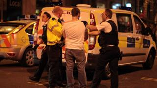 Police arrest a man after an incident in Cardiff