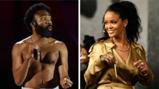 Donald Glover and Rihanna