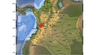 Mapa del sismo