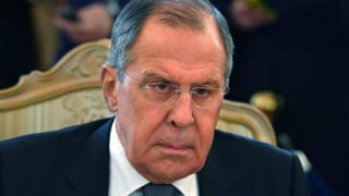Ministro de Exteriores de Rusia, Sergei Lavrov.
