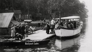 Boat trip on Rudyard Lake, 1925
