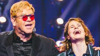 Elton John and Christine and the Queens