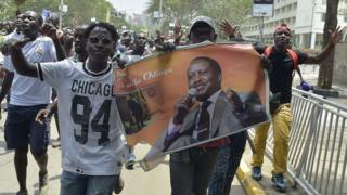 Les manifestants de l'opposition acquis à la cause de Raila Odinga dans les rues de Nairobi