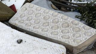 Bulky waste including discarded mattresses